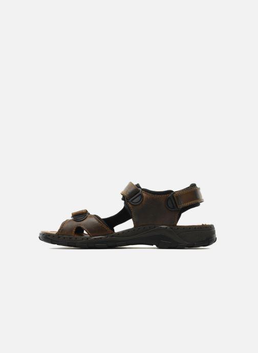Sandales et nu-pieds Rieker Christian Marron vue face