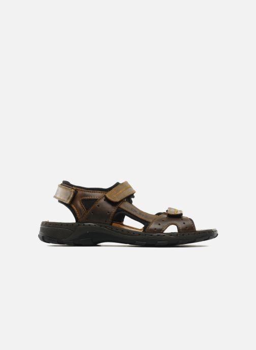 Sandales et nu-pieds Rieker Christian Marron vue derrière
