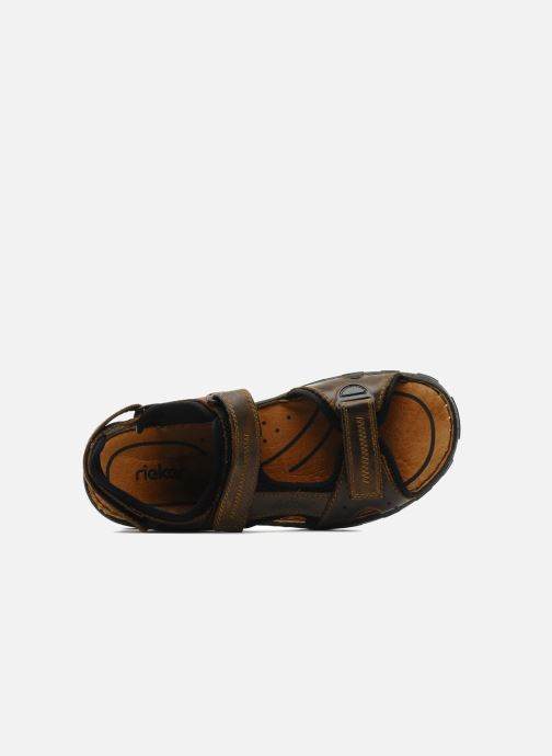 Sandali e scarpe aperte Rieker Christian Marrone immagine sinistra