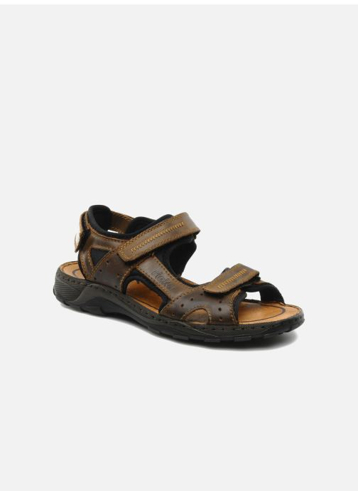 Sandales et nu-pieds Rieker Christian Marron vue détail/paire