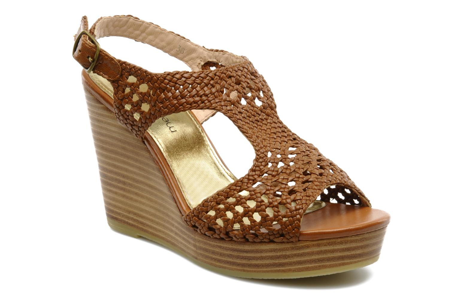 Sandals Mellow Yellow Lexic Brown detailed view/ Pair view