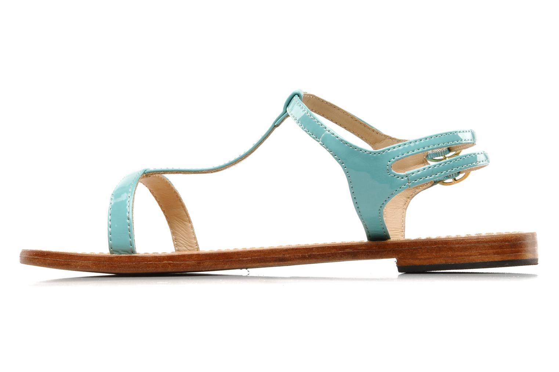 Sandales et nu-pieds Mellow Yellow Link Bleu vue face