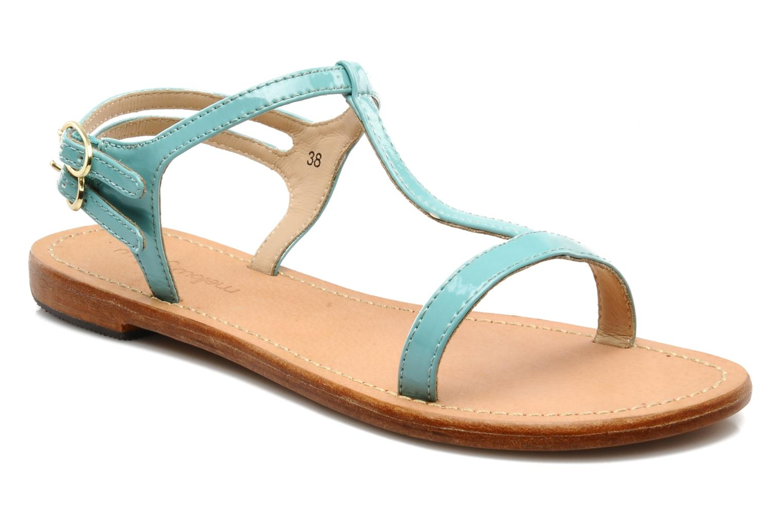 Sandales et nu-pieds Mellow Yellow Link Bleu vue détail/paire