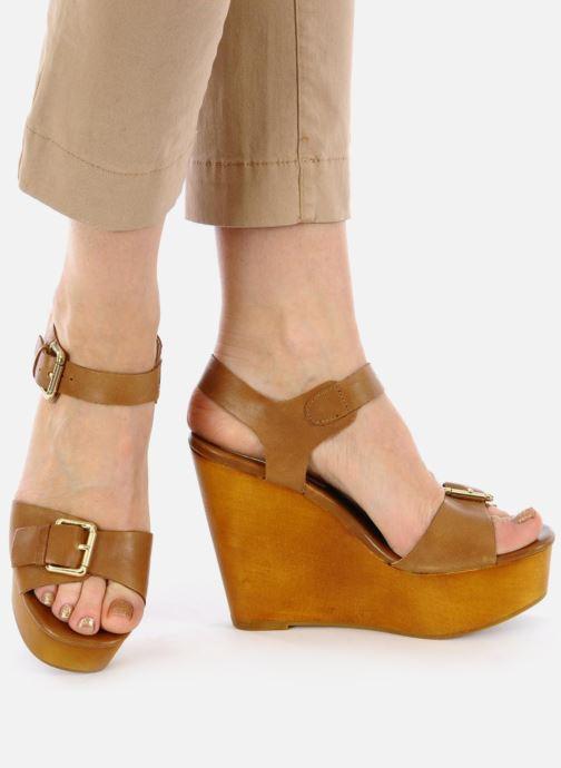 Sandales et nu-pieds Mellow Yellow Lupper Marron vue bas / vue portée sac