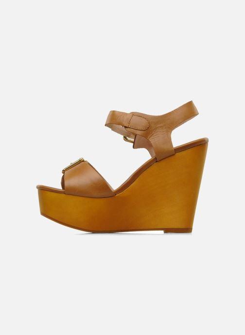 Sandalen Mellow Yellow Lupper braun ansicht von vorne