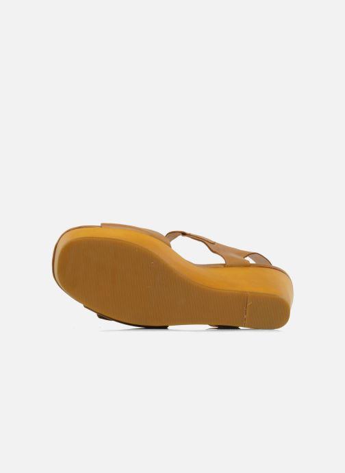 Sandalen Mellow Yellow Lupper braun ansicht von oben