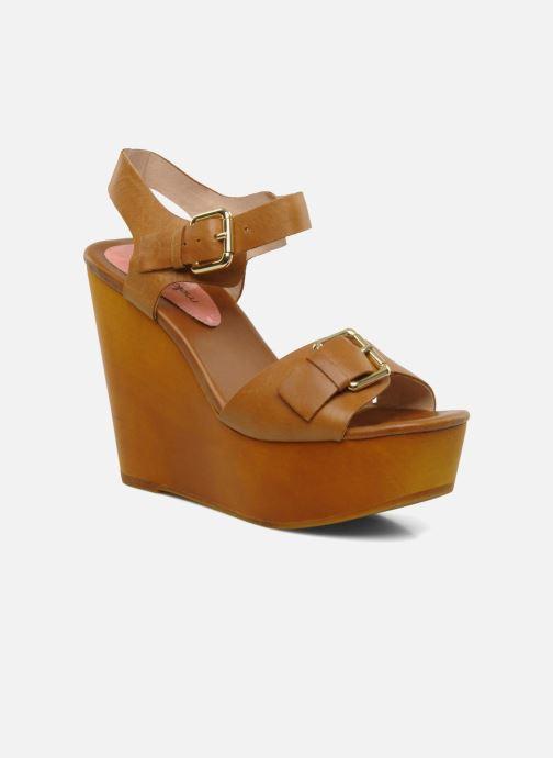 Sandales et nu-pieds Mellow Yellow Lupper Marron vue détail/paire