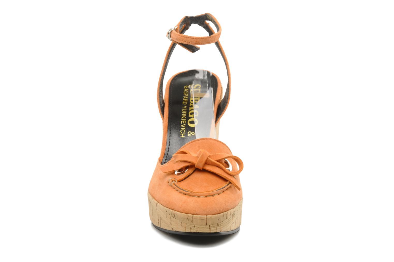 Sandales et nu-pieds Sebago & Gaspard Yurkievich Ydriss Orange vue portées chaussures