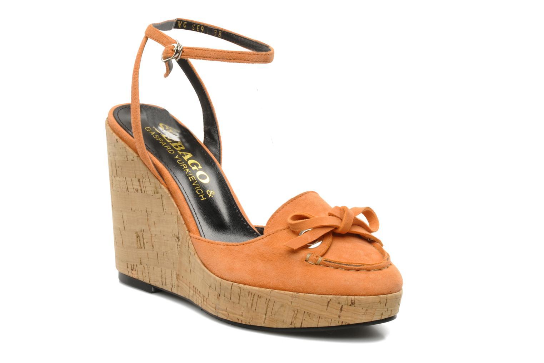 Sandales et nu-pieds Sebago & Gaspard Yurkievich Ydriss Orange vue détail/paire