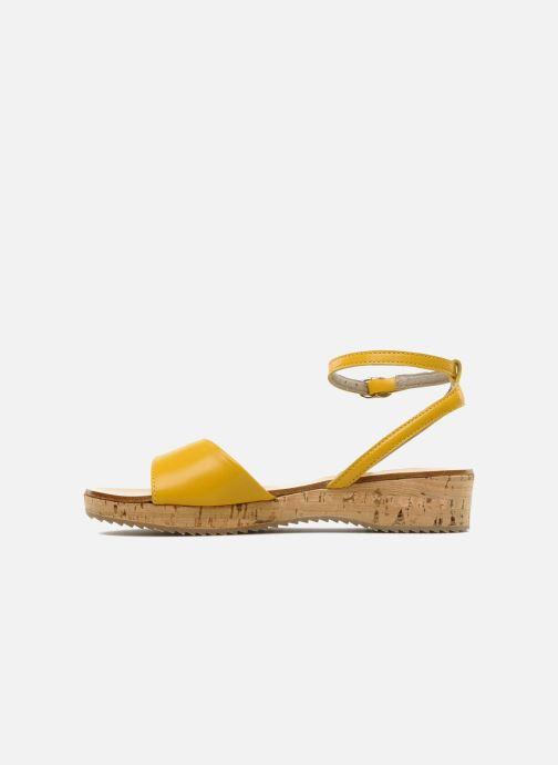 Sandales et nu-pieds C'Entre Maman & Moi! Lucy Jaune vue face
