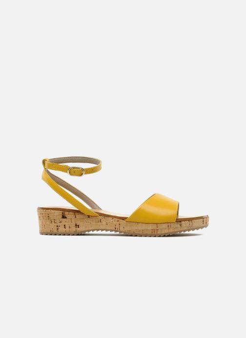 Sandales et nu-pieds C'Entre Maman & Moi! Lucy Jaune vue derrière