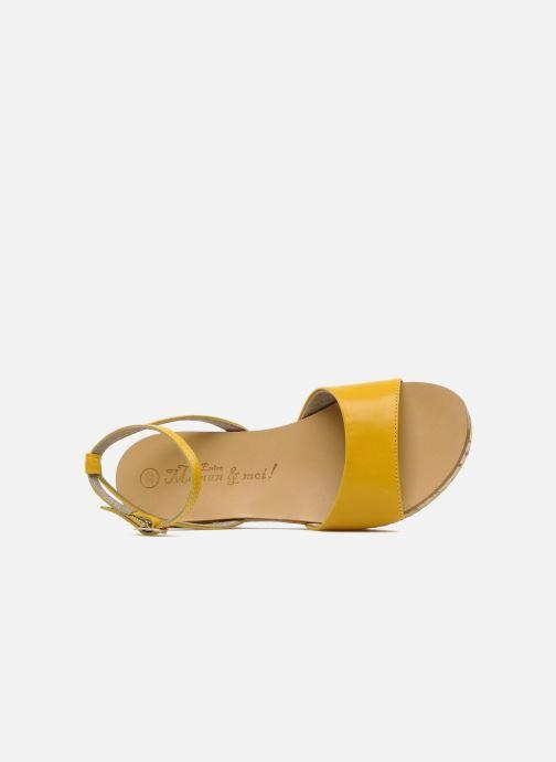 Sandales et nu-pieds C'Entre Maman & Moi! Lucy Jaune vue gauche