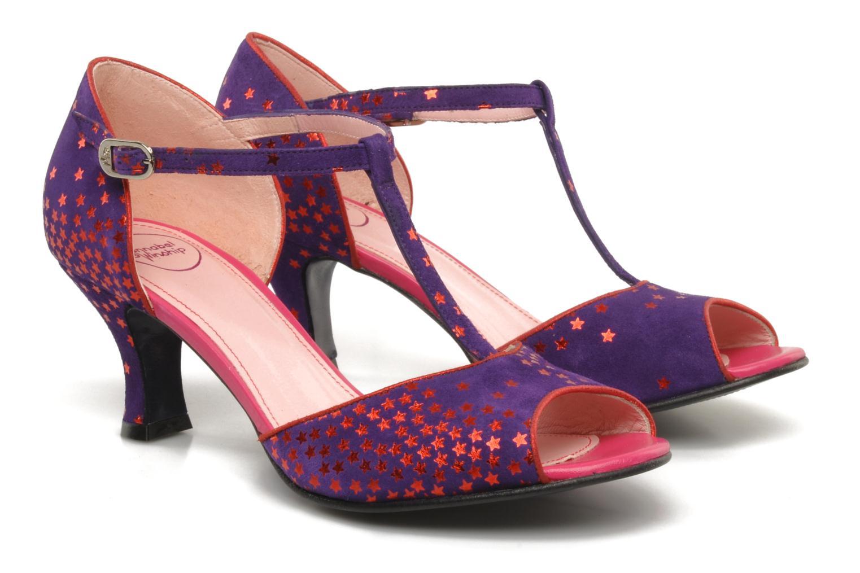 Sandales et nu-pieds Annabel Winship Hambug Violet vue 3/4