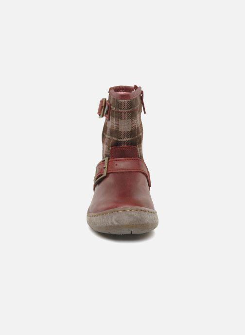 Ankle boots Palladium Botto Mix Burgundy model view