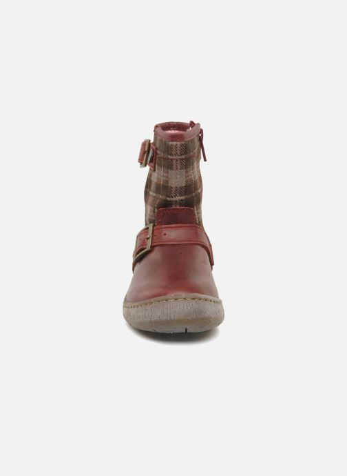 Ankle boots Palladium Botto Mix Burgundy model view