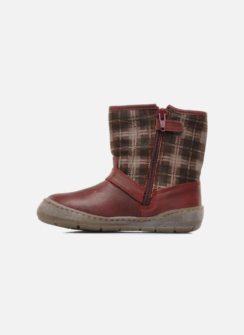 Ankle boots Palladium Botto Mix Burgundy front view