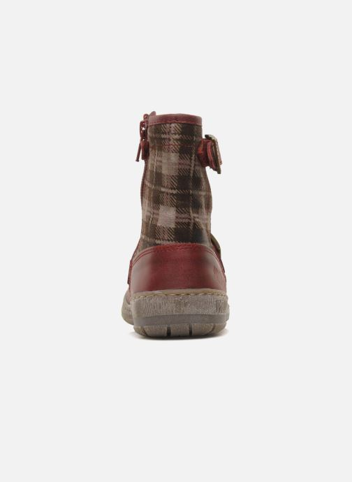 Ankle boots Palladium Botto Mix Burgundy view from the right