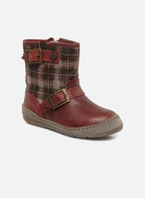 Ankle boots Palladium Botto Mix Burgundy detailed view/ Pair view