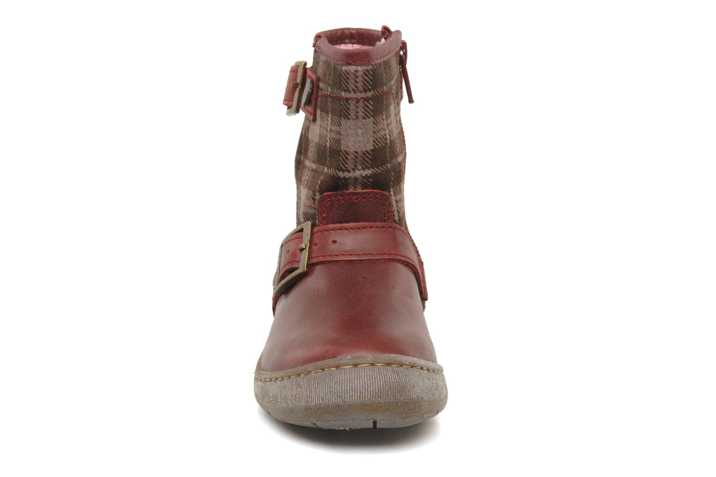 Bottines et boots Palladium Botto Mix Bordeaux vue portées chaussures