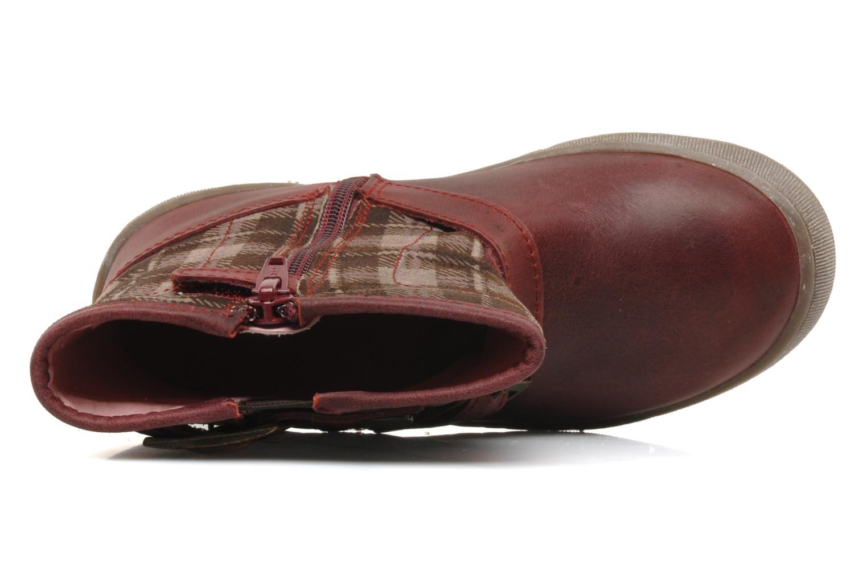 Bottines et boots Palladium Botto Mix Bordeaux vue gauche