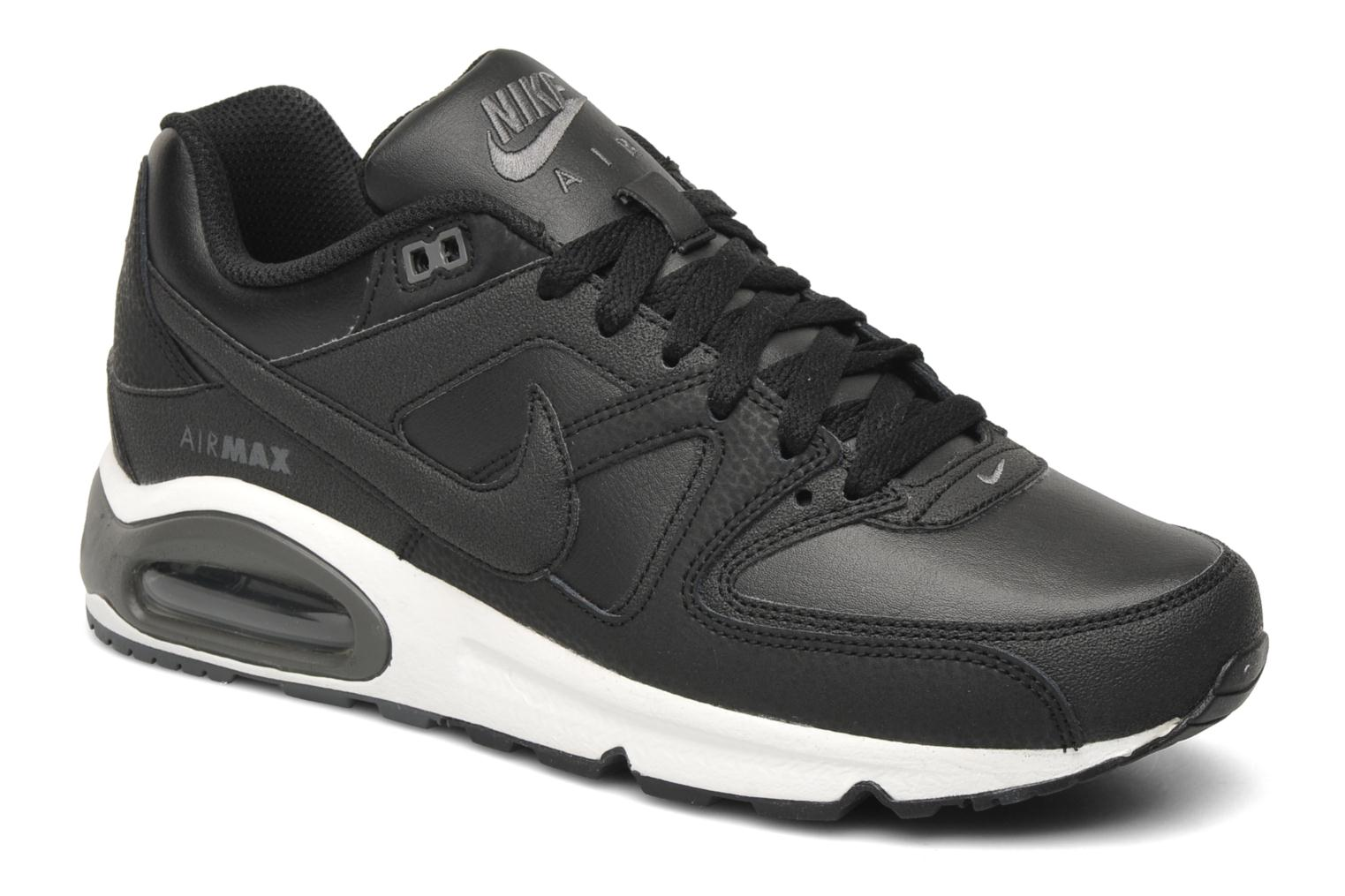brand new c2a03 d42ab ... Baskets Nike Air max command leather Noir vue détail paire ...