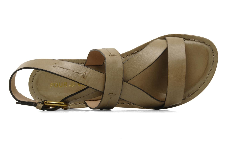 Sandals Pour La Victoire Mariza Grey view from the left