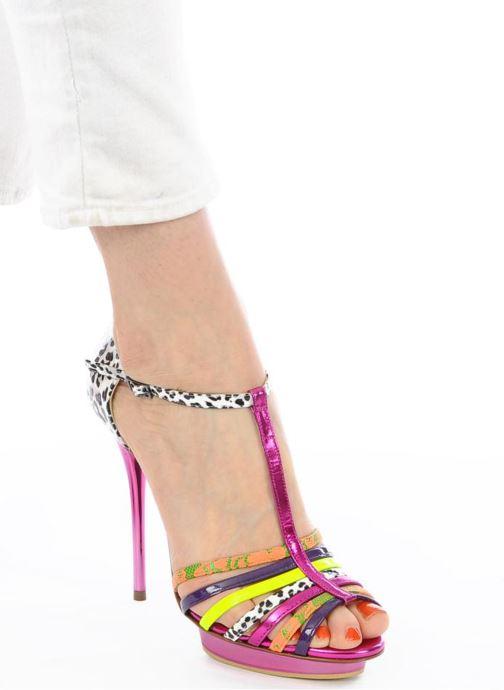 Sandals Ernesto Esposito Edme Multicolor view from underneath / model view