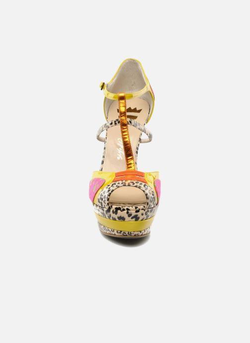 Sandales et nu-pieds Ernesto Esposito Elbire Jaune vue portées chaussures