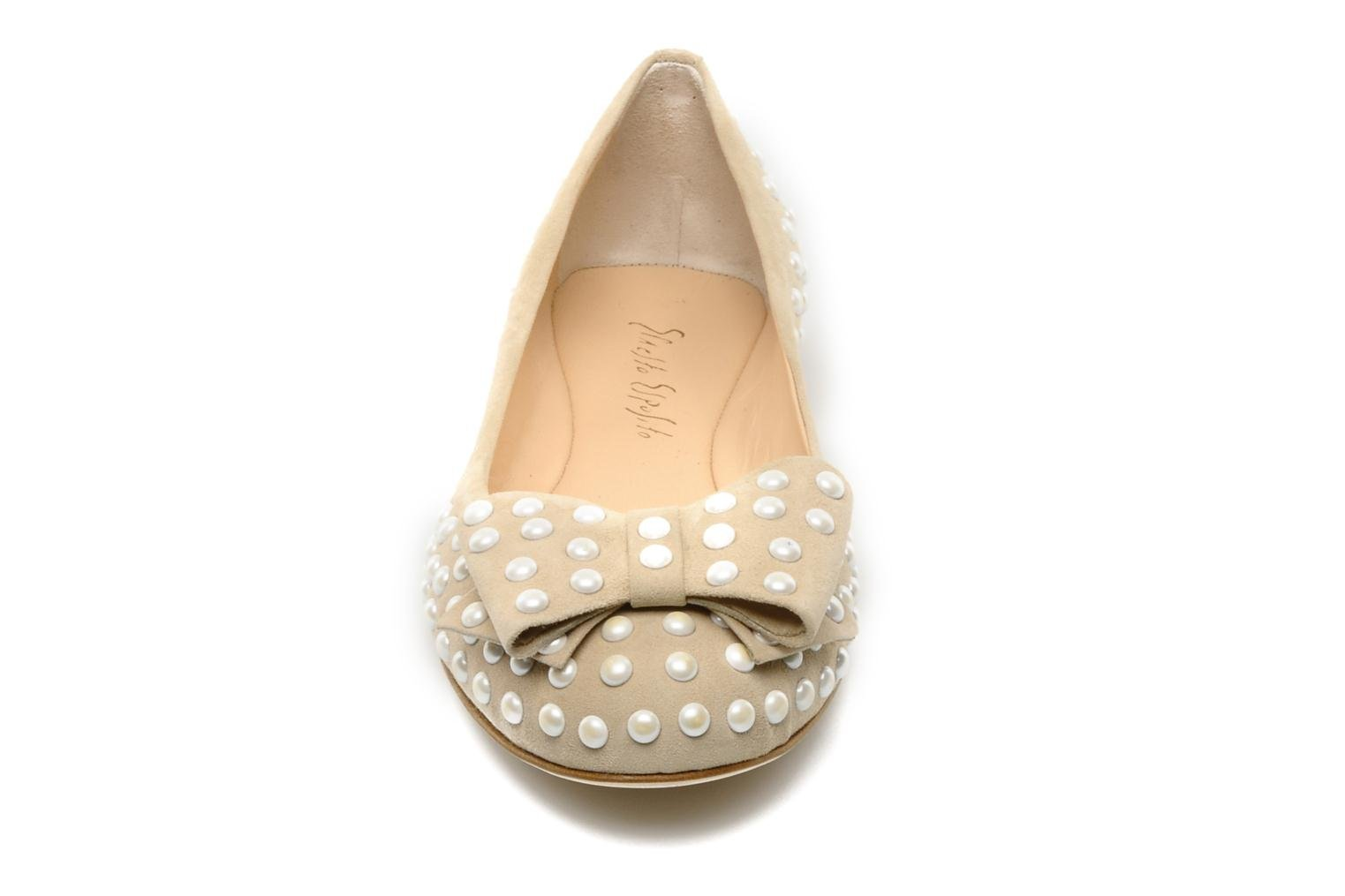 Ballet pumps Ernesto Esposito Evie Beige model view
