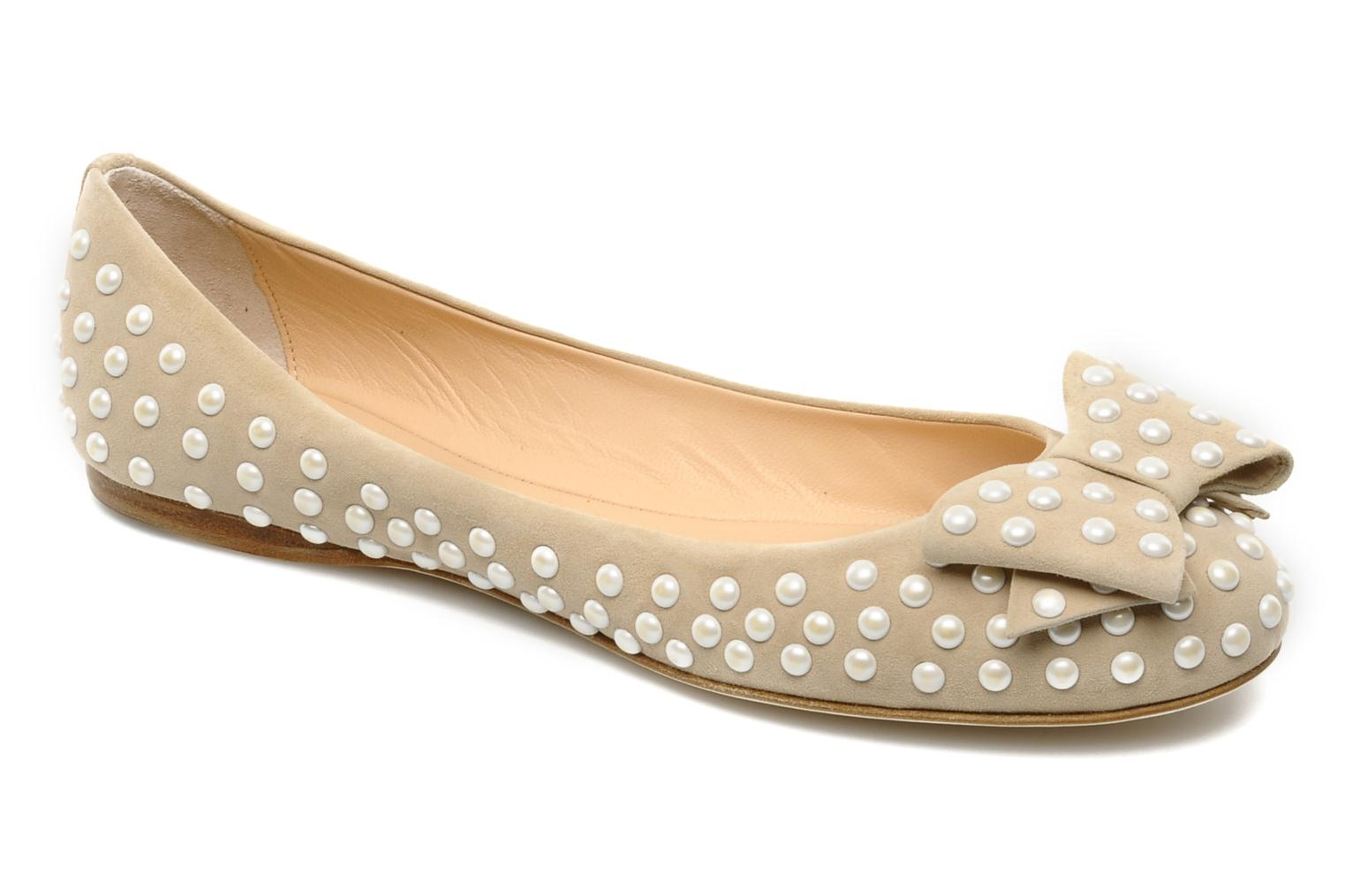 Ballet pumps Ernesto Esposito Evie Beige detailed view/ Pair view