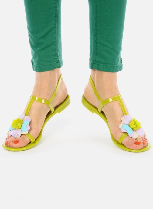 Sandals Missoni Melise Green view from underneath / model view