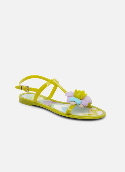 Sandals Missoni Melise Green detailed view/ Pair view