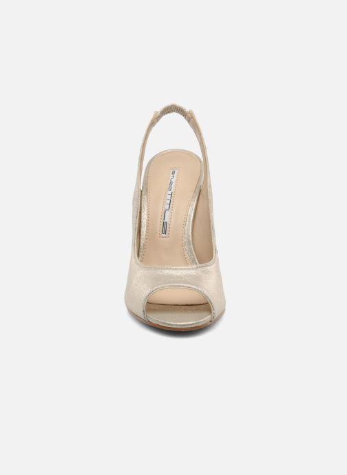 Escarpins Studio TMLS Malaysia Or et bronze vue portées chaussures