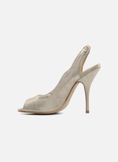 Zapatos de tacón Studio TMLS Malaysia Oro y bronce vista de frente