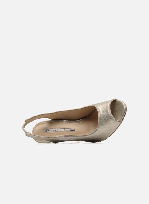 Zapatos de tacón Studio TMLS Malaysia Oro y bronce vista lateral izquierda