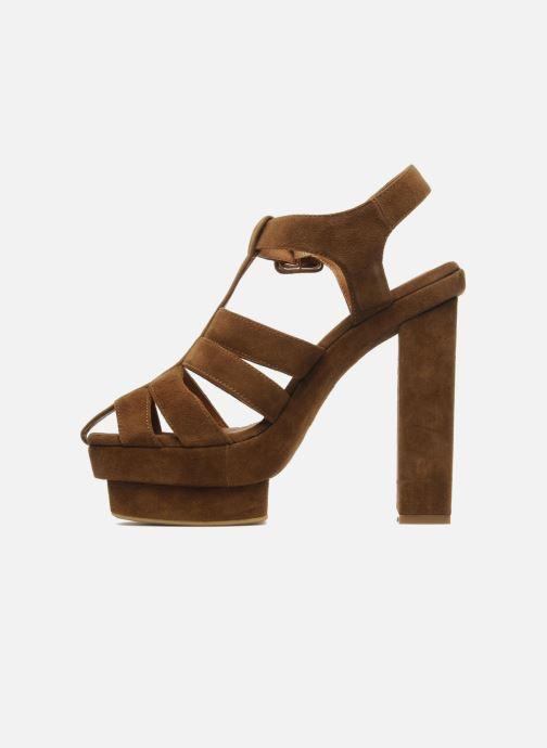 Sandales et nu-pieds Jeffrey Campbell Eva B Marron vue face