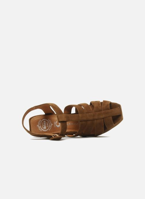 Sandals Jeffrey Campbell Eva B Brown view from the left