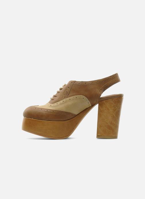 Zapatos con cordones Jeffrey Campbell Ditto Beige vista de frente
