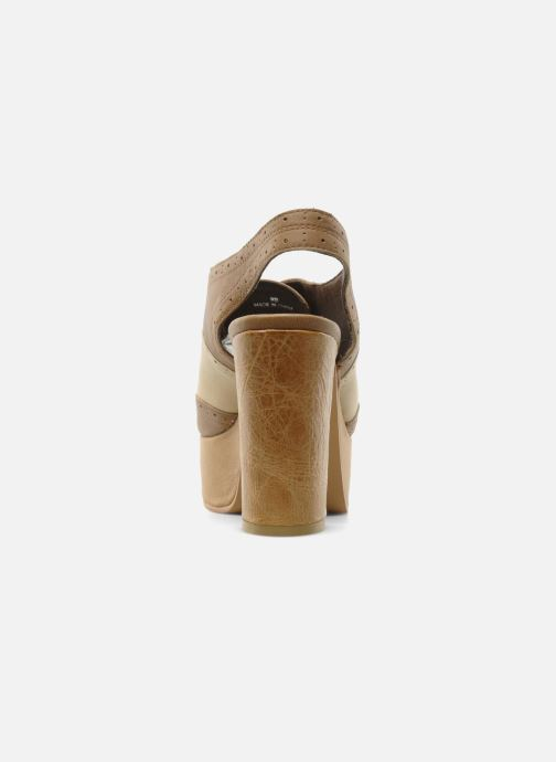 Zapatos con cordones Jeffrey Campbell Ditto Beige vista lateral derecha