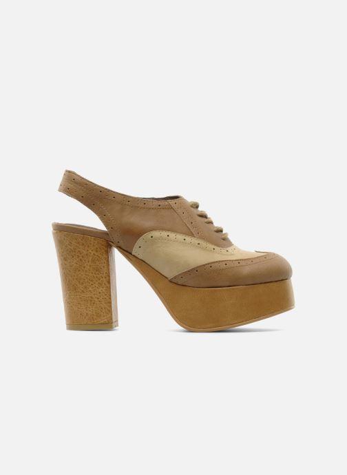Zapatos con cordones Jeffrey Campbell Ditto Beige vistra trasera