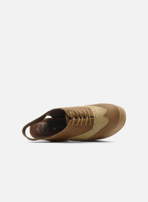Zapatos con cordones Jeffrey Campbell Ditto Beige vista lateral izquierda