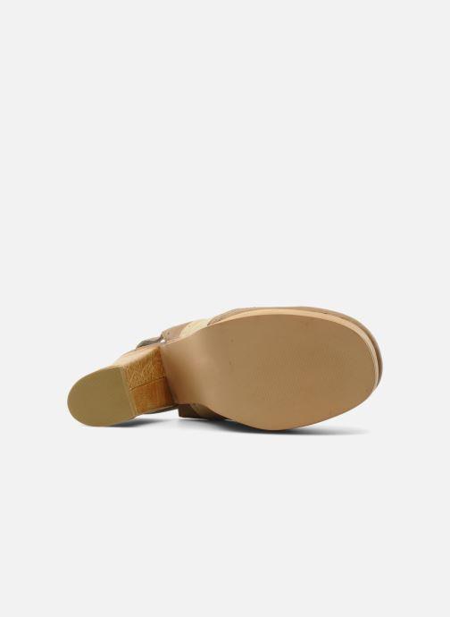 Zapatos con cordones Jeffrey Campbell Ditto Beige vista de arriba
