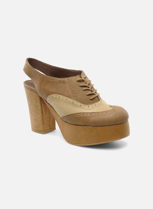 Zapatos con cordones Jeffrey Campbell Ditto Beige vista de detalle / par