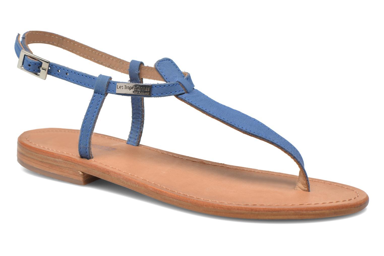 Sandales et nu-pieds Les Tropéziennes par M Belarbi Narbuck Bleu vue détail/paire
