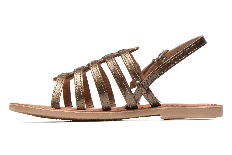 Sandals Les Tropéziennes par M Belarbi Mangue E Bronze and Gold front view