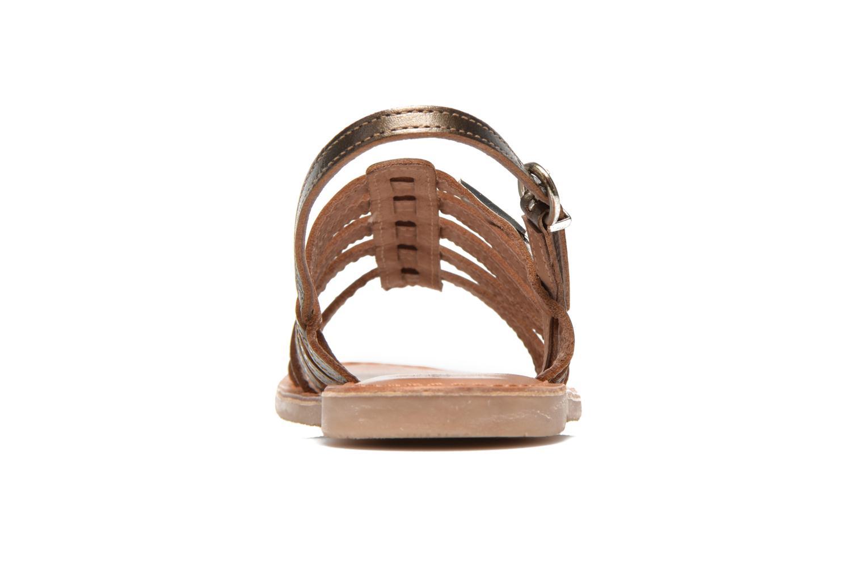 Sandals Les Tropéziennes par M Belarbi Mangue E Bronze and Gold view from the right