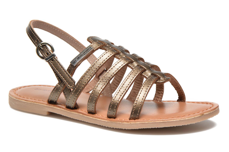Sandals Les Tropéziennes par M Belarbi Mangue E Bronze and Gold detailed view/ Pair view