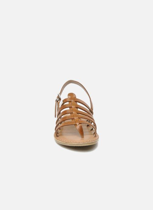 Sandales et nu-pieds Les Tropéziennes par M Belarbi Herisson E Marron vue portées chaussures