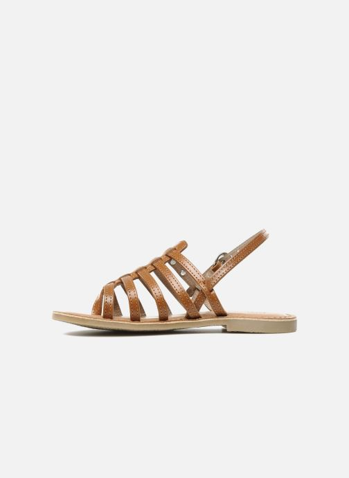 Sandales et nu-pieds Les Tropéziennes par M Belarbi Herisson E Marron vue face