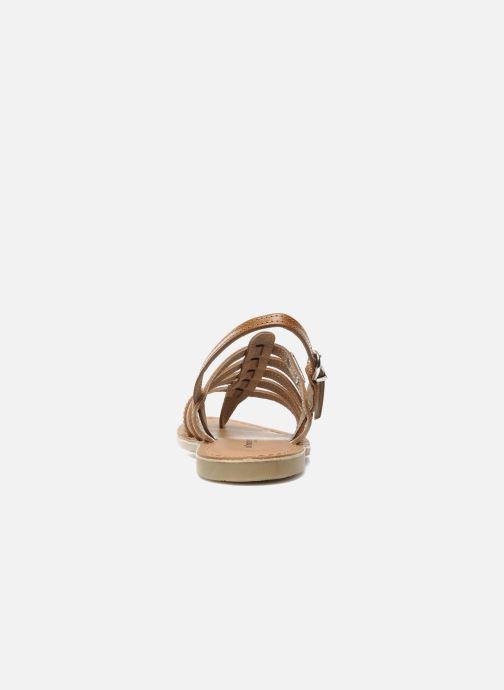 Sandales et nu-pieds Les Tropéziennes par M Belarbi Herisson E Marron vue droite